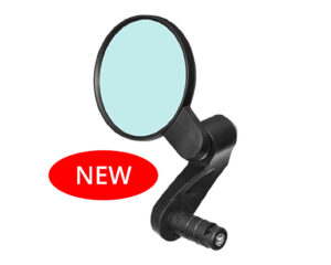 bike-mirror-bar-end-mount-anti-glare-clear-wide-angle-rear-view-shatterproof-scratchproof-glass-lens-thin-rimmed-big-lens-highly-adjustable-foldable
